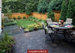 ایده-طراحی-و-چیدمان-حیاط-های-کوچک-رویال-مبل
