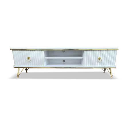 میز تلویزیون جدید سفید طلایی